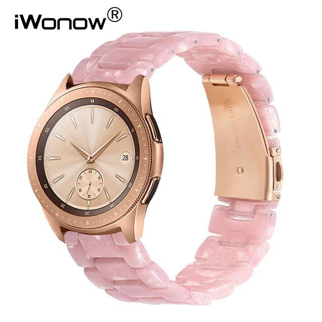 Imitacja ceramiczny pasek do zegarków do zegarka Samsung Galaxy 42mm 46mm aktywny 2 40mm 44mm pasek do szybkiego uwalniania pasek z żywicy bransoletka na rękę