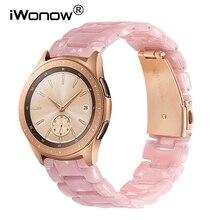 Immitatie Keramische Horlogeband voor Samsung Galaxy Horloge 42mm 46mm Actieve 2 40mm 44mm Quick Release Strap hars Band Pols