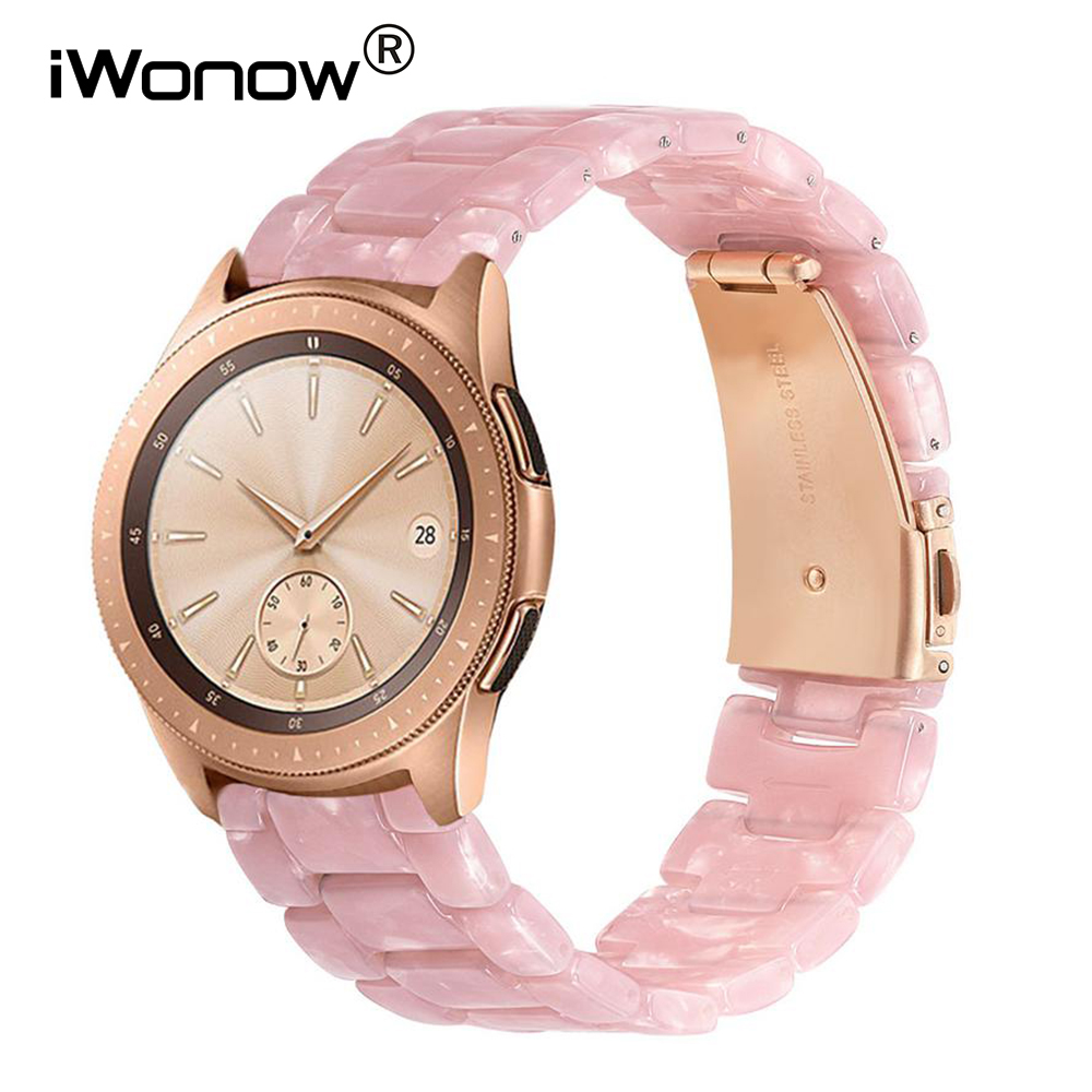 Immitation Ceramic Watchband For Samsung Galaxy Watch 42mm 46mm Active 2 40mm 44mm Quick Release Strap Resin Band Wrist Bracelet