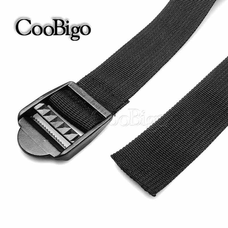 "1"" ~ 2"" Width Outdoor Camping Travel Polypropylene Webbing Tied Brand POM Ladder Lock Luggage Belt Strap Adjustable 48"" Length"