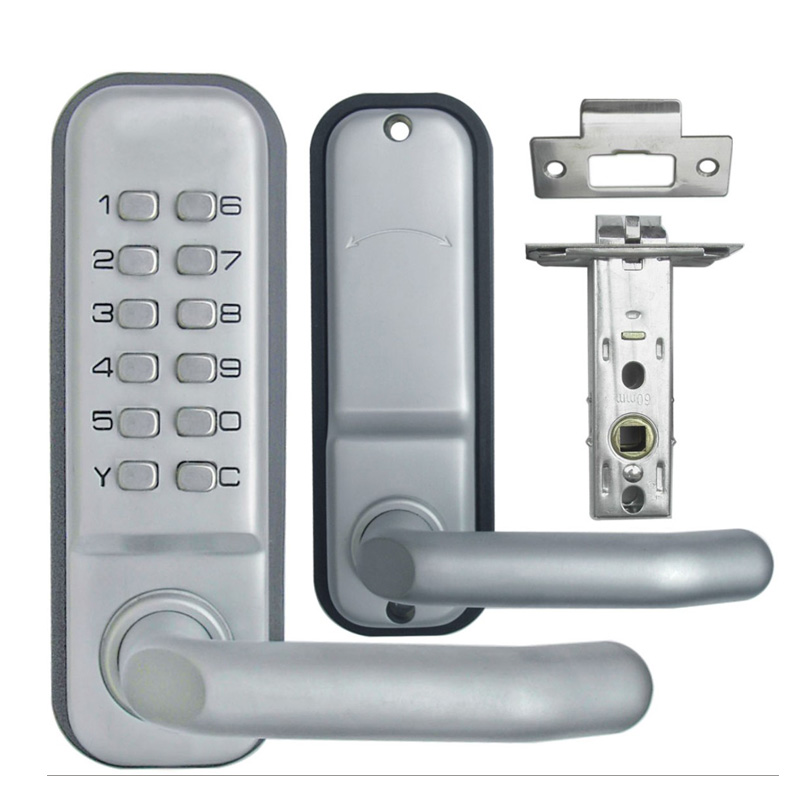 Keyless Mechanical Keypad Code Digital Locker Home Entry Security Safety Door Lock 1715 380b mechanical keyless digital keypad code locker home entrance safety lock stainless steel material 35 50mm door thickness