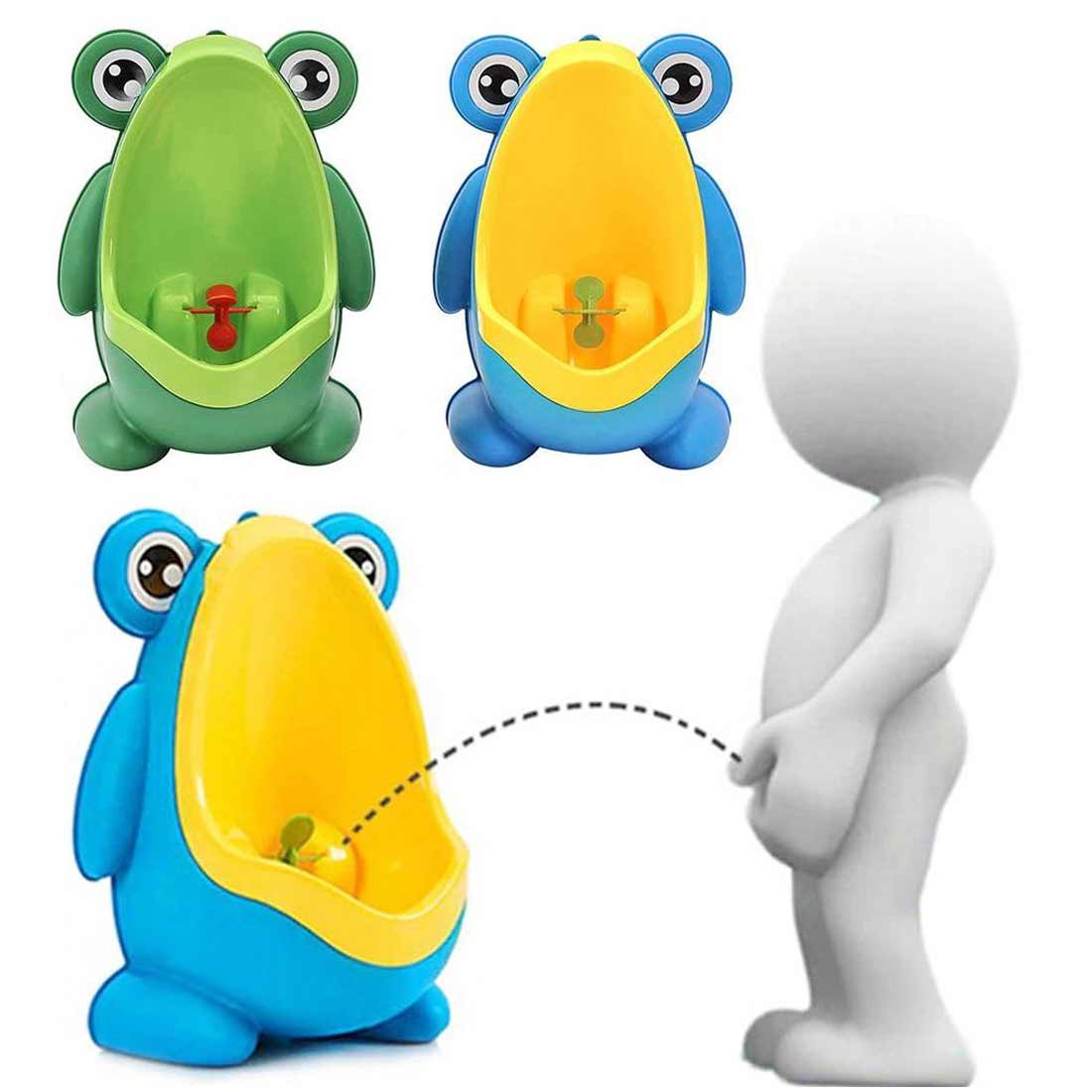 Baby Boy Bathroom Frog Urinal Kids Frog Potty Toilet Urinal Pee Trainer Wall-Mounted Toilet Pee Trainer Pen Children