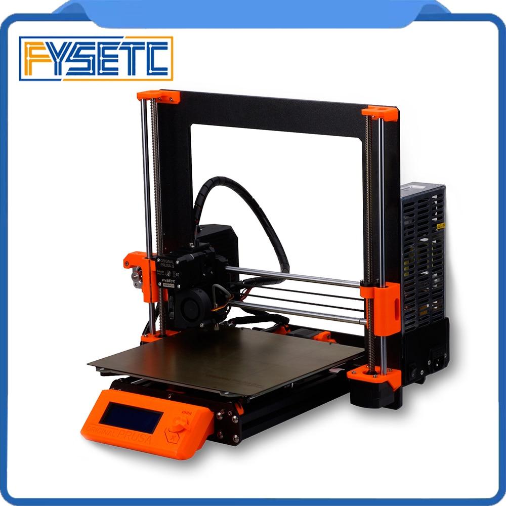 1 ensemble complet bricolage Prusa i3 MK3 imprimante 3D Kit complet avec profil de cadre en alliage d'aluminium lit de chaleur magnétique moteur Kit de panneau Einsy