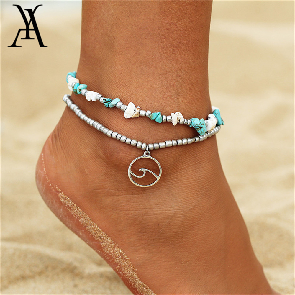 Bohemia Geometric Wave Ankle for Women Bracelet on Leg Choker Ankles Sandal China Jewellery Summer Holiday Accessories