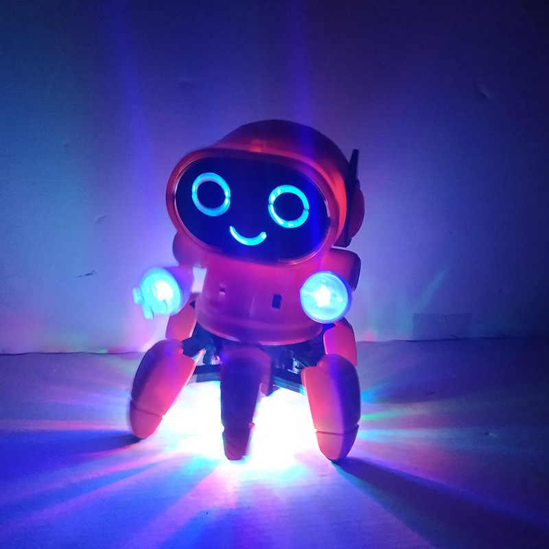 Танцы Электрический шесть коготь рыба Маленький 6 робот освещение музыка Детский наземный магазин игрушки