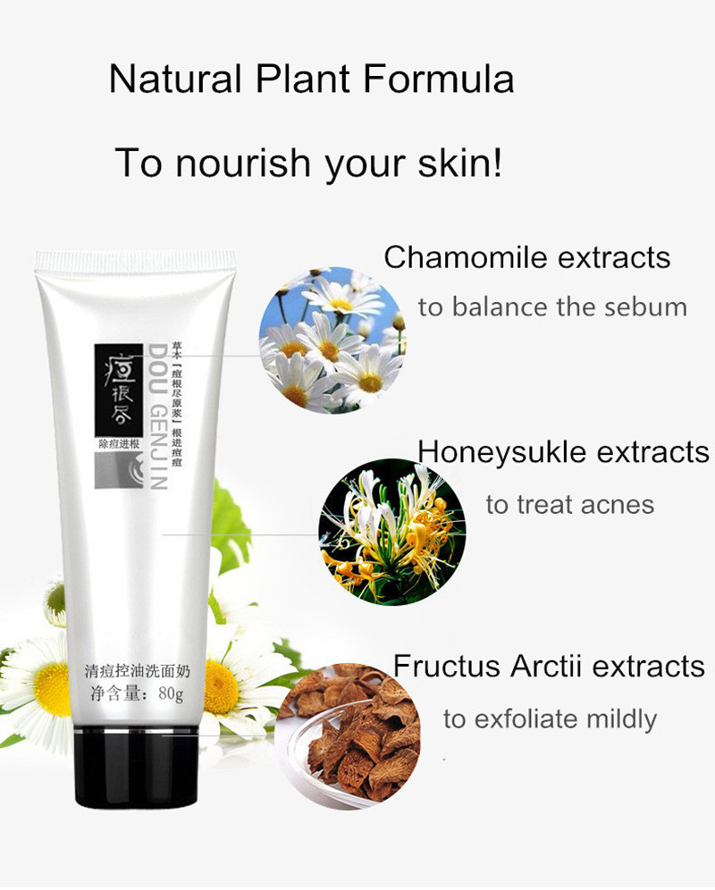 Anti Acne Cleanser pimple exfoliating facial scrub