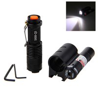 Vastfire Mini SK68 Zoomable 1200LM XPE LED Waterproof Flashlight Torch Lamp AA 14500 Red Dot Laser