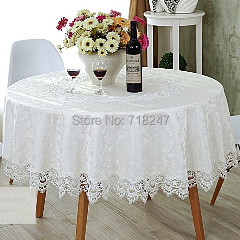 Hot Sale Round Delicate Jaquard Polyester Lace .