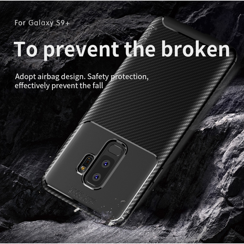 para Samsung S9 Funda IPAKY S9 Plus Funda de silicona TPU Fibra de - Accesorios y repuestos para celulares - foto 4