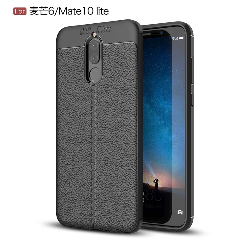 For Huawei Head 6 / Mate 10Lite / Head6 5.9 Case Phone Back Protective Smartphone Soft Litchi striae Shockproof Case Cover