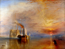 romantic landscape canvas painting masterpiece reproduction Joseph Mallord William Turner - The Fighting Temeraire