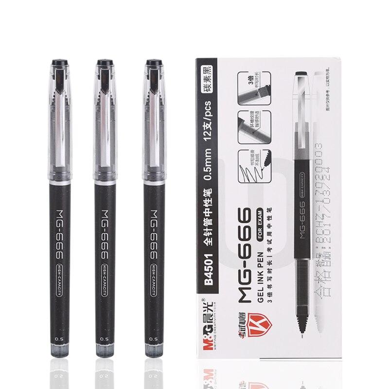 M & G Mg-666 Подписание Pen 0.5 Бизнес гелевая ручка B4501 гелевая ручка 6/12 шт.