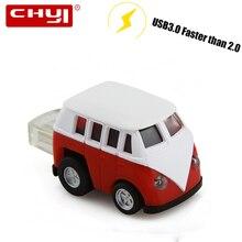 USB флэш-накопитель персонализированные автобус формы 8 ГБ 16 ГБ 32 ГБ пера драйвера USB Stick Творческий модель автомобиля флешки 64 ГБ USB 3,0 диск