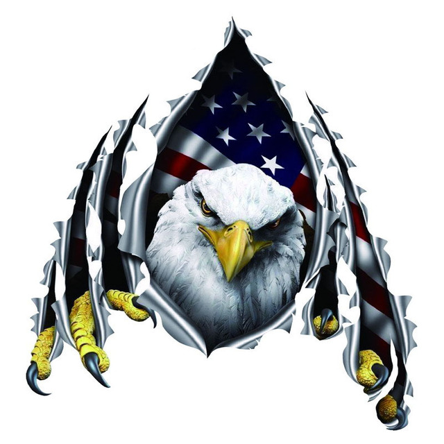 Car Styling American Eagle Flag Wings Stars Car Door
