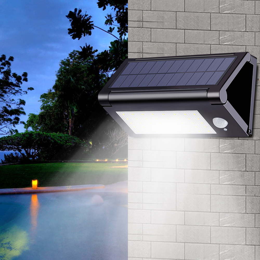Outdoor Garden light PIR 40Leds Foldable Solar Powered Motion Sensor Fence Lights IP65 Waterproof Wall Lamp for Patio Courtyard цена