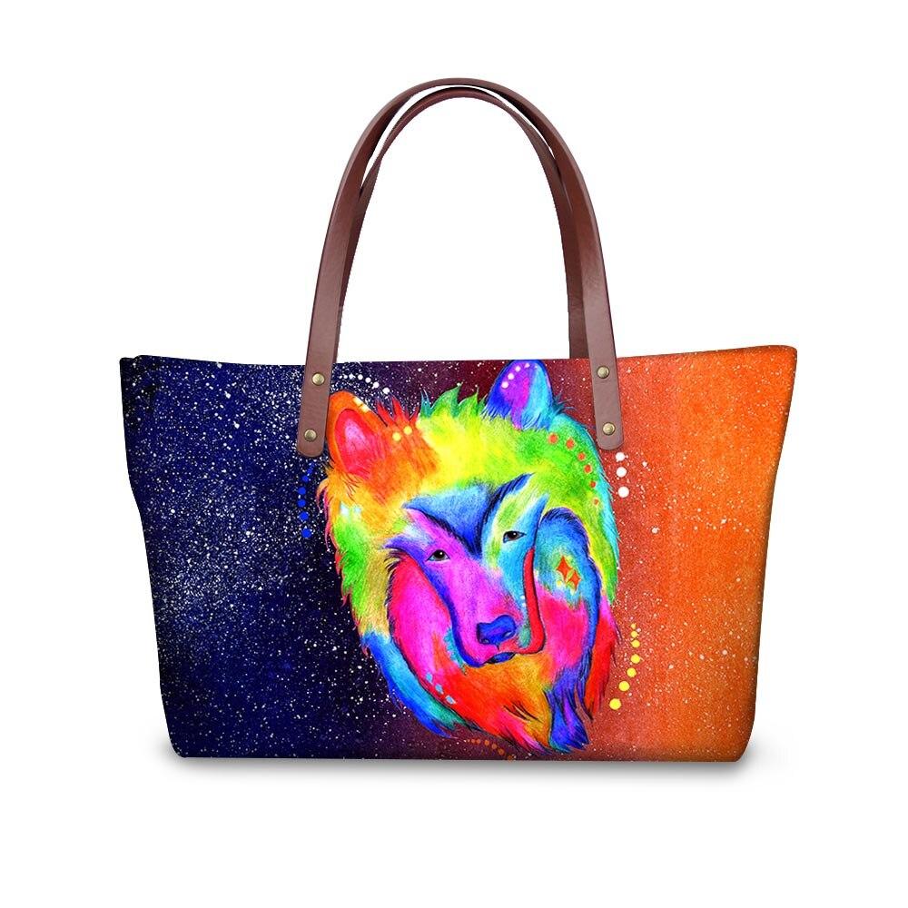 Noisydesigns women colorful animal Designer handbags Daily Use Girls Ladies Cross Body Bags Travel Shopping Bag Bolsa Feminina
