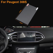 Car Styling 9.7 Inch GPS Navigation Screen Steel Protective Film For Peugeot 308S Control of LCD Screen Car Sticker