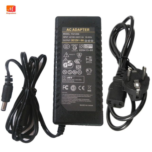 12V 6A AC Adapter Power supply for SKYRC Balance Charger 50W B6 V2 Imax B6 / mini