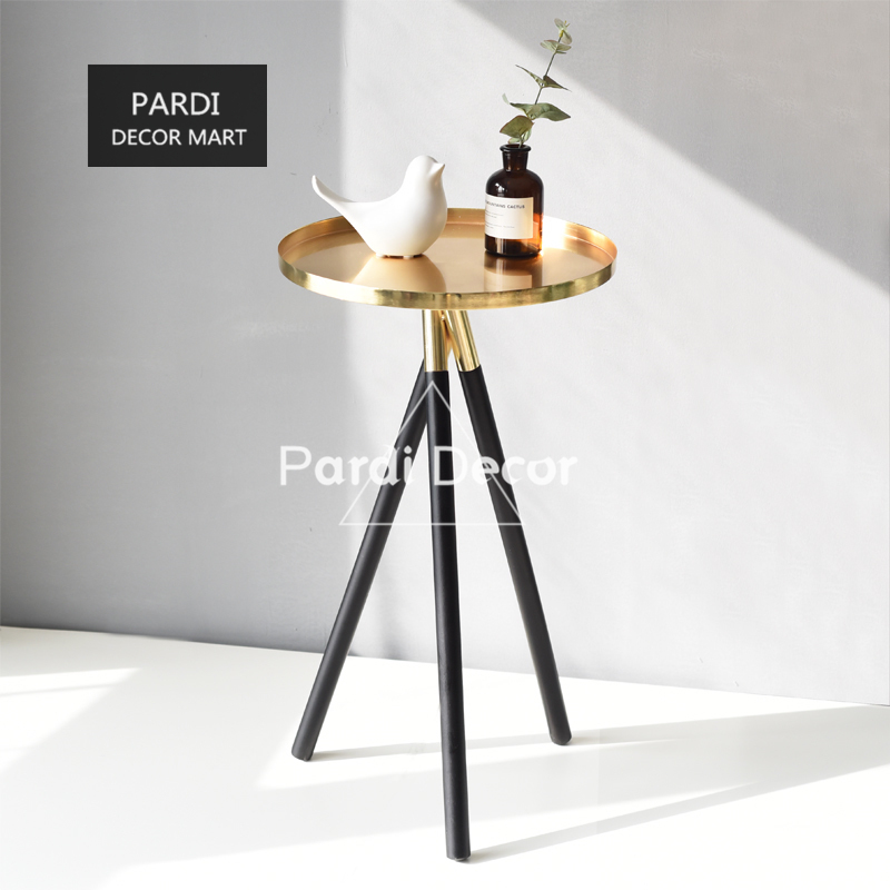 Simple Modern Golden Tripod Tea Tray Tea Table stainless steel vase tray home decorations 1pc lot