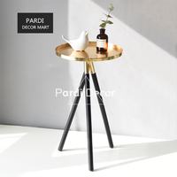 Simple Modern Golden Tripod Tea Tray Tea Table stainless steel vase tray home decorations 1pc/lot
