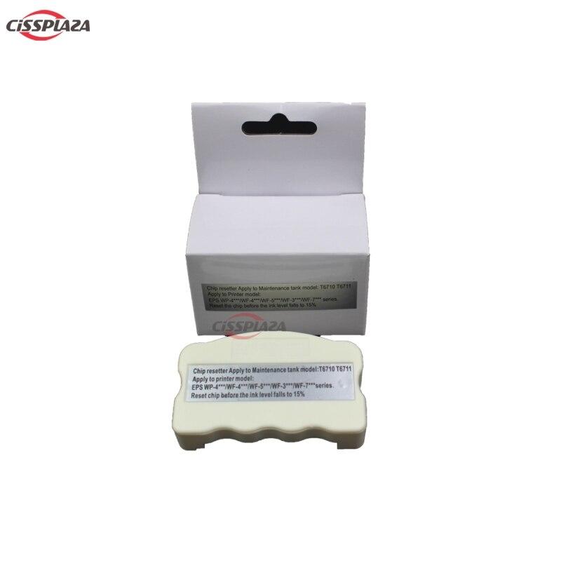 CISSPLAZA 1PC T6710 T6711 Maintenance Tank Chip Resetter Compatible For Epson WP-4525 WP-4530 WP-4540 WF-5110 WF-7110 WF-7610