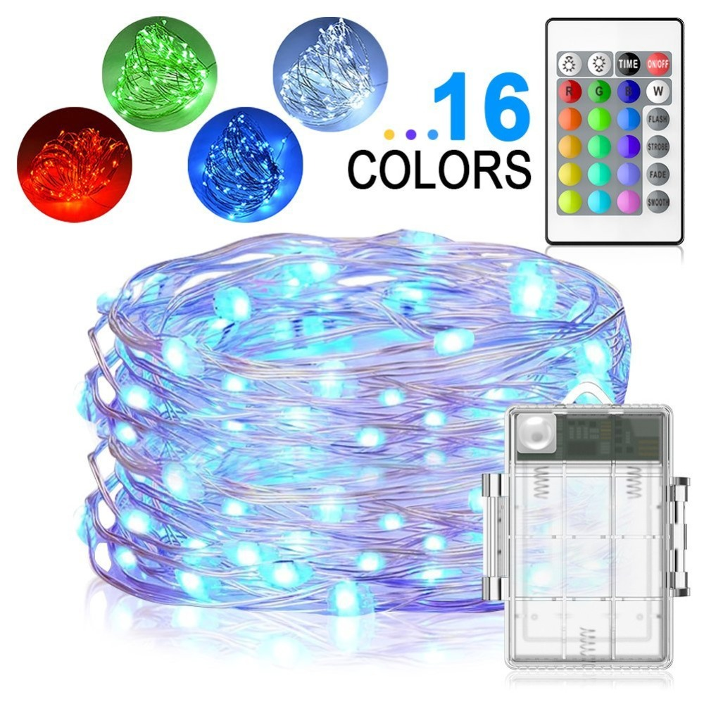 5m Led String Lights 50 Led Fairy Lights Battery Operated