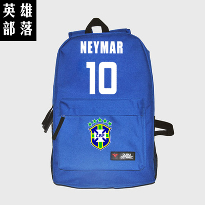 3f231d7f09be8b Brazil captain 10  Neymar JR backpack students backpack KIDS gift schoolbag  soccer star backpack football computer bag