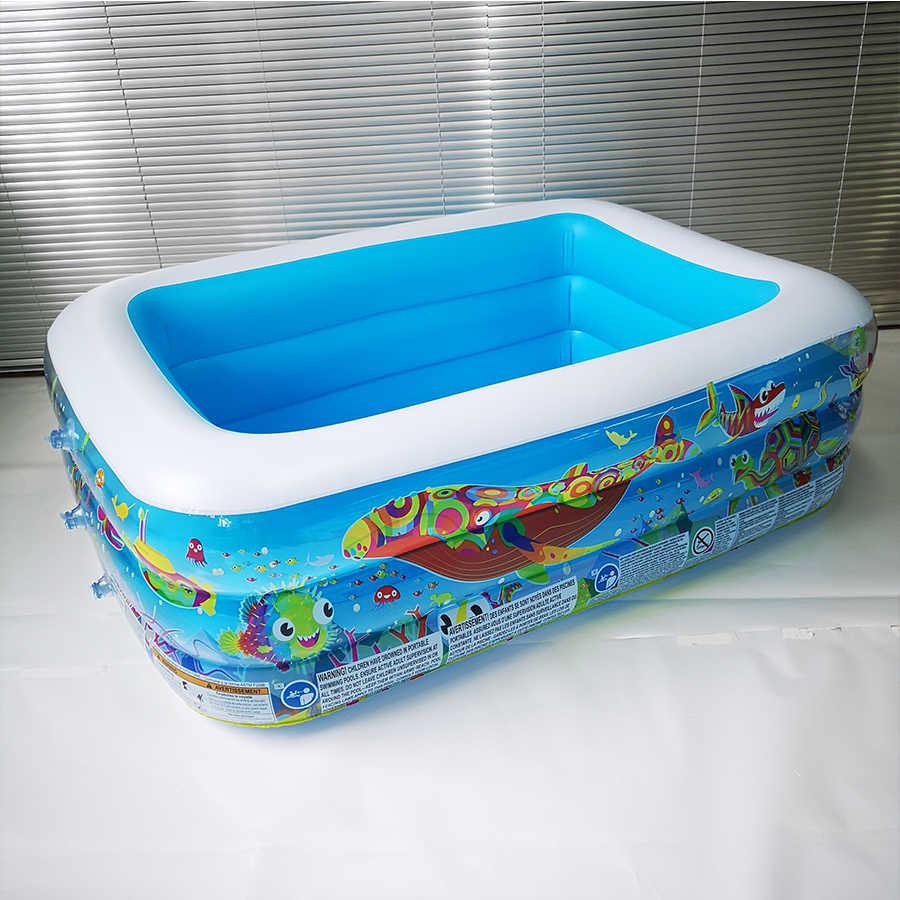 Nhựa Chữ Nhật Bơm Hơi Đáy Trẻ Em Hồ Bơi Bơm Hơi Bồn Cách Nhiệt Trẻ Em Chơi Bóng Bơi Bể