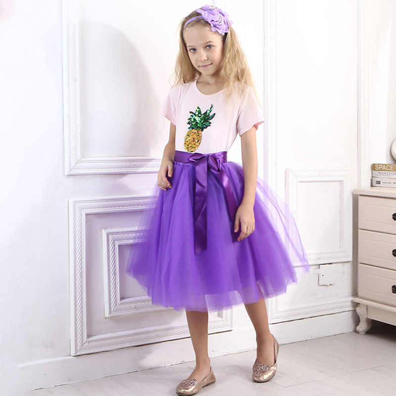 49761ea9724a3d9 Рождество тюль юбки для девочек принцесса балетные пачки длинные юбки  эластичный пояс шифон Детское бальное платье