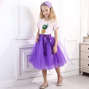 Image 3 - Рождественские фатиновые юбки для девочек, длинные юбки пачки принцессы с эластичным поясом, шифоновое детское бальное платье, одежда для девочек, детская одежда
