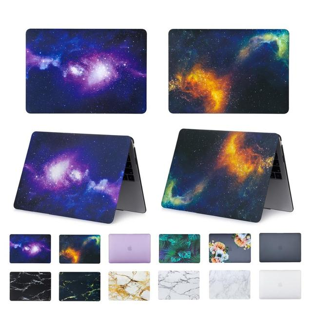 EGYAL Laptop Case For APPle MacBook Air 11 13 Retina 13 15 New Pro 13 inch with Touch Bar 2017 2018 Matte Cover New model A1932