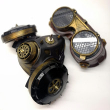 Vintage Steam Punk Mask Steampunk mask Gas Masks Daft mighty Road Warrior Metal Rivet Respirator Goggles Mad Max glasses