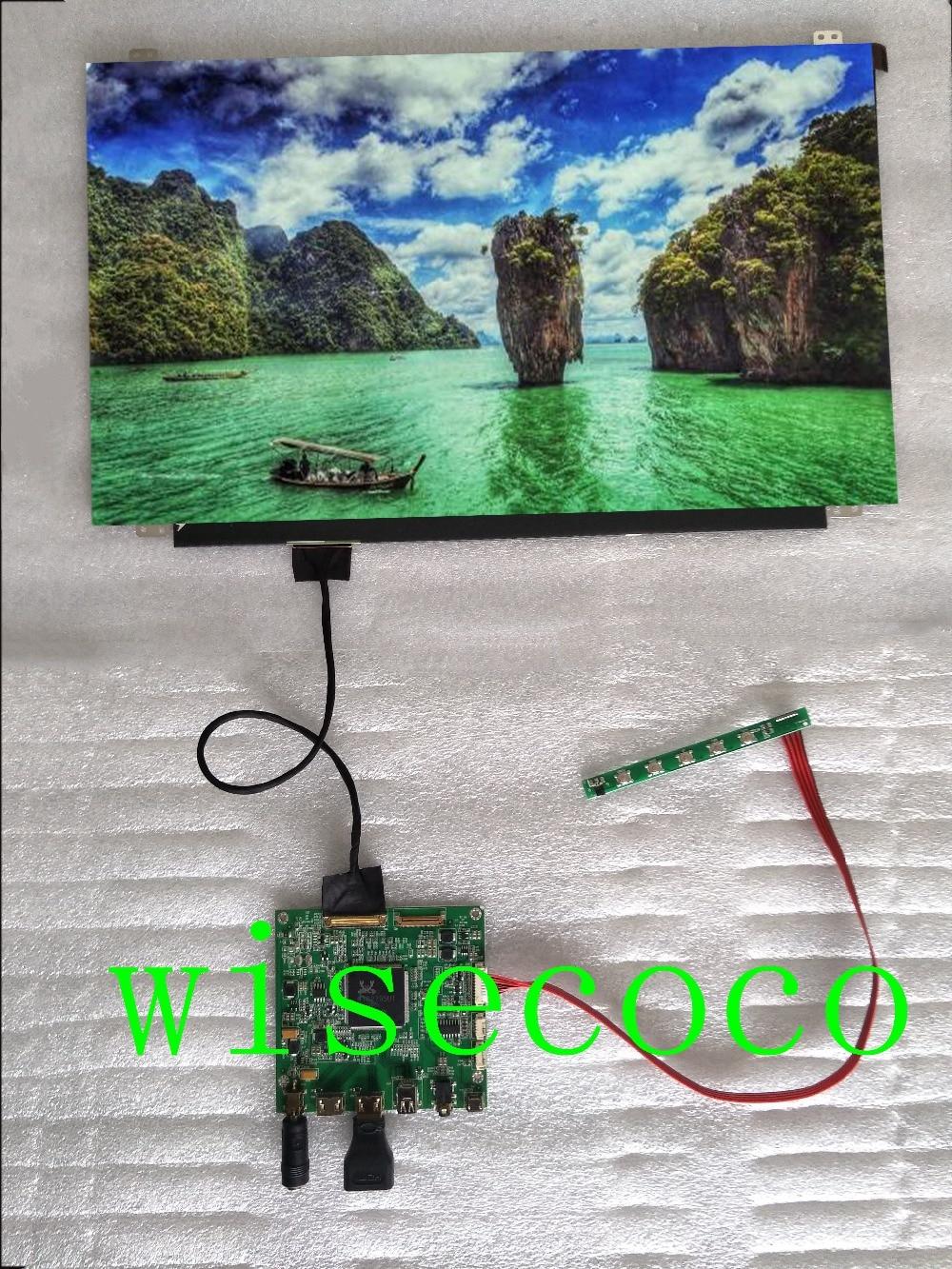 15.6 inch 4K LCD creen eDP Connector 2 HDMI Mini LCD Controller Board NV156QUM N44 3840x2160 Backlight WLED IPS LCD Display