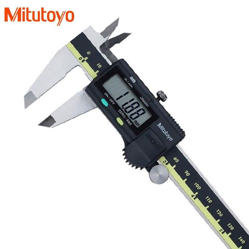 100% real Japón mitutoyo 0-150mm/0.01mm electrónica digital Vernier Pinzas micrómetro Herramientas de medición