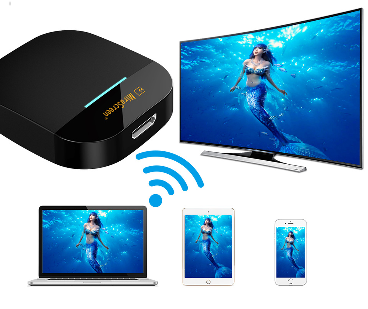 Mirascreen 2.4G/5G Miracast Any Cast Wireless DLNA AirPlay HDMI TV Stick Wifi Display Dongle Receiver for IOS Android PC Laptop image