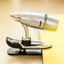 Регулируемый светодиодный ночник с зажимом, яркий металлический светильник, портативный светодиодный светильник для чтения, светильник для книг, светильник-вспышка, рабочий светильник 6*5 см