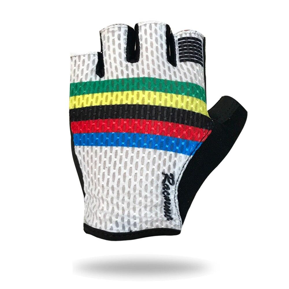 Racmmer 2018 Atmungsaktives Fahrradhandschuhe Rennrad Handschuhe Männer Sport Halben Finger Schlupf Fahrrad MTB Rennrad Handschuhe # CG-01
