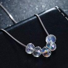 100% Стерлинговое Серебро 925 пробы Модные Красочные Хрустальные