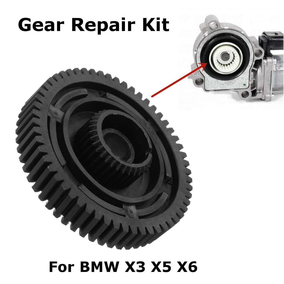 Repair Gear Box Servo Actuator Motor Transfer Case For BMW X3 X5 X6 E83 E53 E70 27107566296
