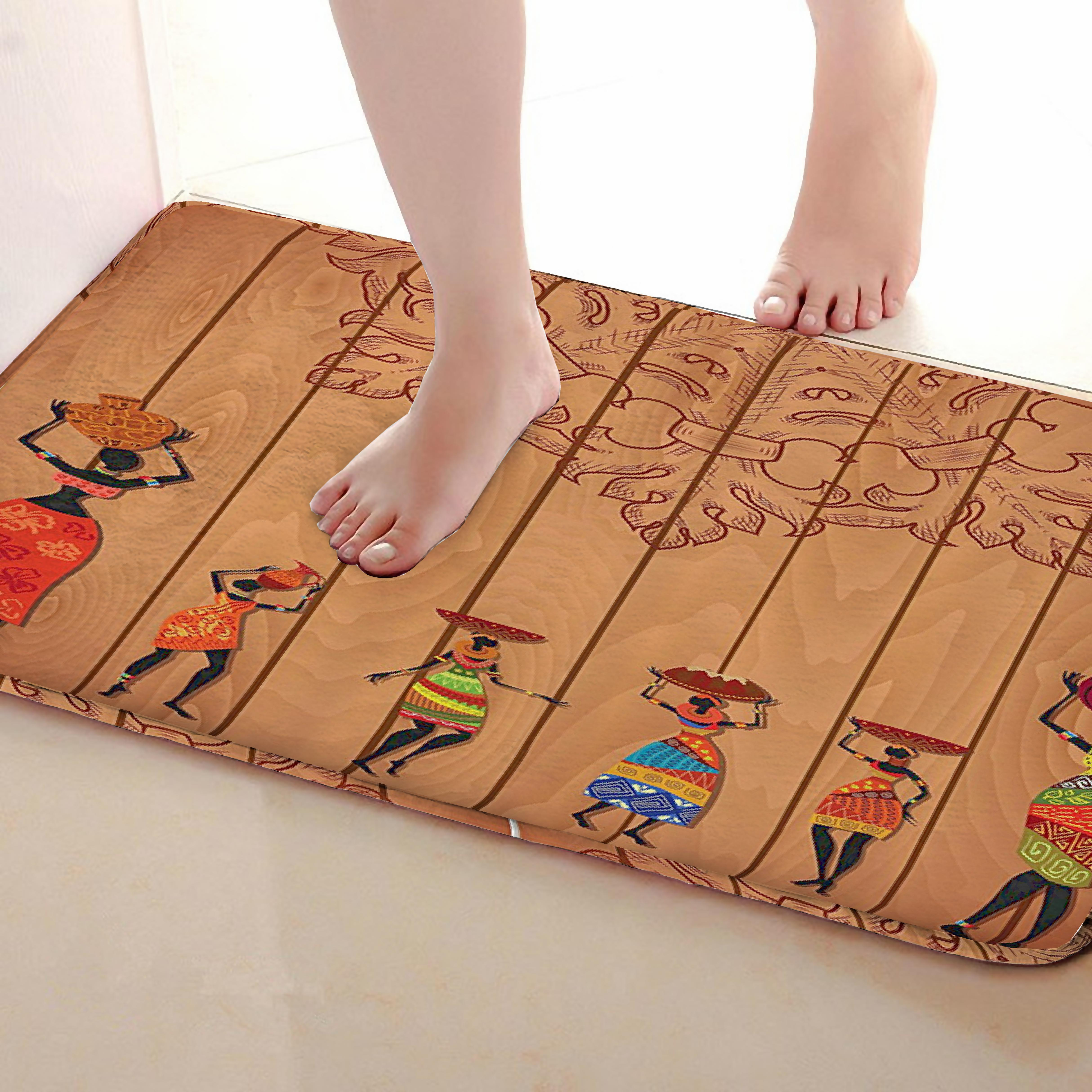 Women Style Bathroom Mat,Funny Anti Skid Bath Mat,Shower Curtains Accessories,Matching Your Shower Curtain