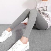2017 Spring And Summer Women Fashion High Waist Cotton Leggings Stretchy Slim Feet Pants Large Size Trousers Fitness Legging 95Z