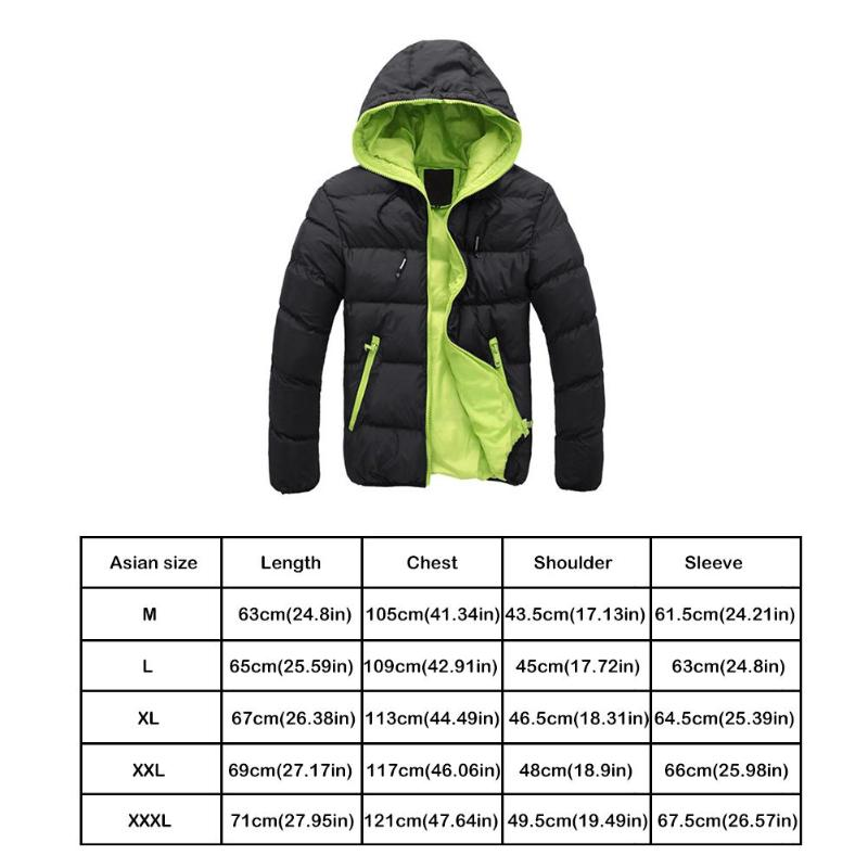 2019 Winter Cotton Warm Outwear Parka Winter Jacket Men Hooded Collar Coat Mens Warm Down Casual Coats with Zipper Pocket 15