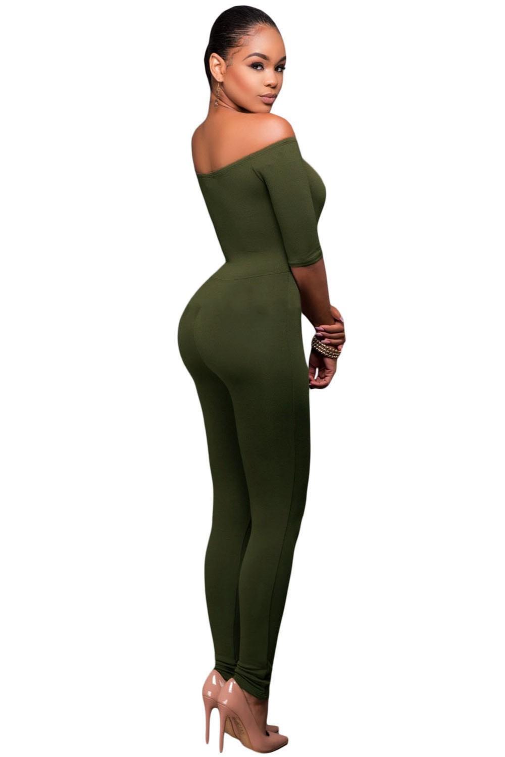 Olive-Green-Bardot-Neckline-Fashion-Jumpsuit-LC64193-9-3