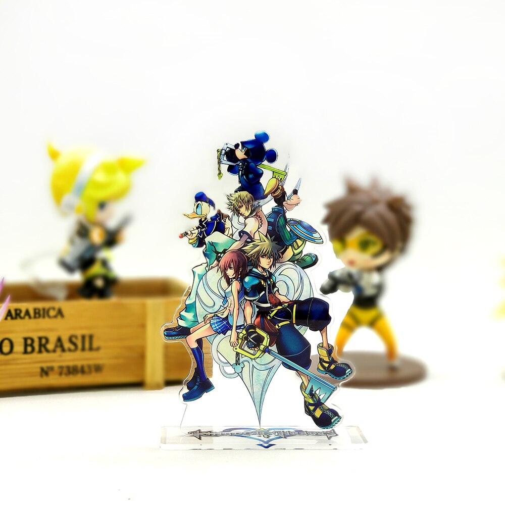 Love Thank You Kingdom Hearts Sora Kairi Roxas Family Acrylic Stand Figure Model Plate Holder Cake Topper Anime Comic Game