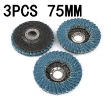 3pcs 75mm Grinding Wheels Flap Discs 3 Inch Angle Grinder Sanding Discs Metal Plastic Wood Abrasive Tool