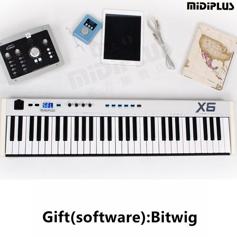 buy gift bitwig software midiplus x6 61key usb midi keyboard controller with. Black Bedroom Furniture Sets. Home Design Ideas