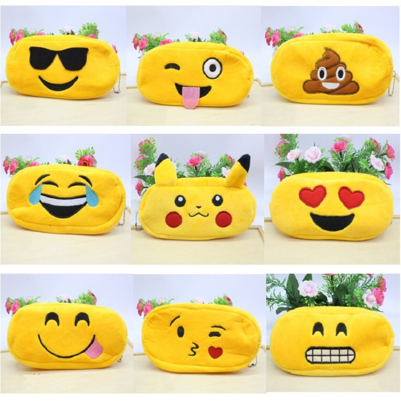 NOVERTY Cute kawaii 3D Cartoon plush emoji Cute Pencil case School Minecraft etui Trousse scolaire stylo Pencilcase 04819 kawaii pink large capacity canvas cute pencil case school minecraft etui trousse scolaire stylo pencilcase estuche escolar 04893
