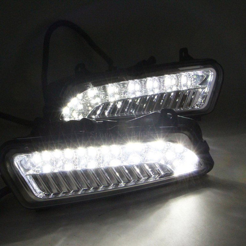 LED Car DRL Daytime Running Lights with black matt Fog lamp hole For 2010-2013 Volkswagen vw Polo Hatchback Waterproof style hot sale abs chromed front behind fog lamp cover 2pcs set car accessories for volkswagen vw tiguan 2010 2011 2012 2013