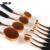Profesional 10 unids de Cepillo Del Maquillaje En Polvo Fundación Crema de Sombra de Ojos Blush Maquillaje Herramienta Pinceles Kit de cepillo de Dientes Forma Oval + caja