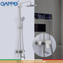 GAPPO Shower System stainless steel bathroom rainfall shower bathtub faucet do anheiro taps chrome wall mounted shower set стоимость